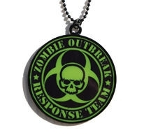Darkside nekketting Zombie Response Team groen