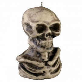 Skeleton candle - 14 cm tall