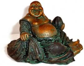 Happy boeddha goudgroen klein