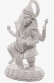 Ganesha wit 19 cm hoog