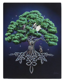 Tree of Life - wandbord van Lisa Parker - 25 x 19 cm