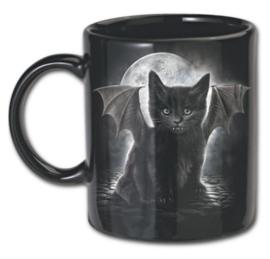 Spiral Direct - Cat's Tears - vleermuis vampier kat - keramiek mokken - set van 2