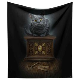Fluwelen bedsprei woondeken Pandora's Box - van Lisa Parker -160 x 160 cm