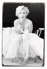 Blikken metalen wandbord Marilyn 8 - 20 x 30 cm