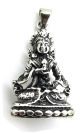 Boedhisattva Boeddhist ketting 316 titanium staal 4 x 2.3 cm