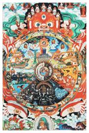 Tibetaanse thanka Samsara Amitabha Boeddha - 45 x 65 cm