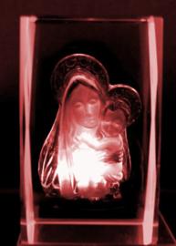 Maria Heilig Hart Laserblok - 4 x 4 x 6 cm