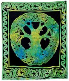 Bedsprei Levensboom / Tree of Life groen 240 x 210 cm 3