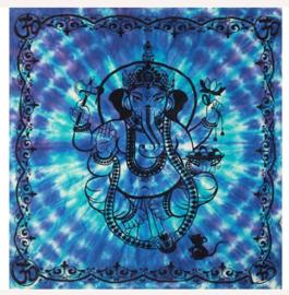 Altaarkleed tafelkleed Ganesha blauw 90 x 90 cm