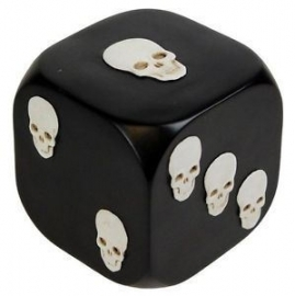 Dice with Death - dobbelsteen - 8 cm