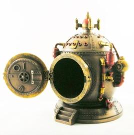 Mechanics of Time - Steampunk klok / opbergdoos / kluis - 16 cm hoog