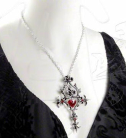 Alchemy Gothic Vampier nekketting - Renaissance Cross of Passion