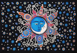 Een persoons bedsprei, wandkleed Dreaming Sun and Moon - 120 x 220 cm