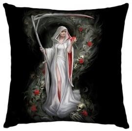 Gevulde kussen Life's Blood - Magere Hein - dessin Anne Stokes - 42 x 42 cm