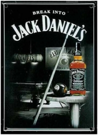 Blikken metalen wandbord Jack Daniel's 3 20 x 30