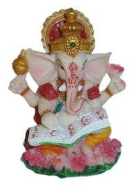 Ganesha gekleurd met boek 9 cm hoog