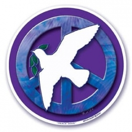 Raamsticker Peace Dove