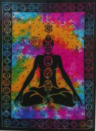 Muurkleed Wandkleed Chakra Boeddha  - 80 x 110 cm