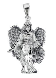 925 Sterling zilveren kettinghanger beschermengel fee - 38 x 21 mm