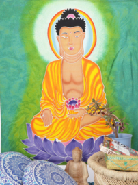 Wandkleed batik Boeddha 95 x 110 cm