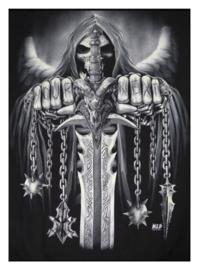 You're Next - fleece deken - Magere Hein Grim Reaper - merk Wild - 127 x 152 cm