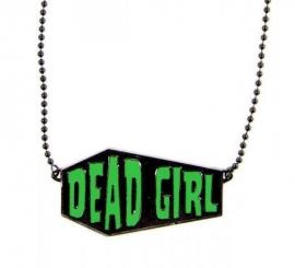 Kreepsville Gothic Zombie Doodskist ketting Dead Girl