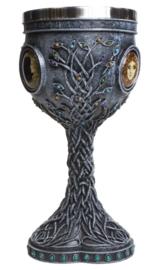 Triple Moon Goddess Enchanted Chalice - 19,5 cm hoog