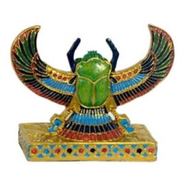 Egyptische scarabee beeld gekleurd