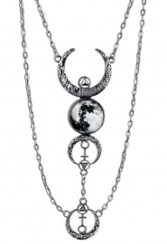 Restyle Gothic Wicca Occulte nekketting - Luna - volle maan