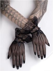 Fantasmagoria zwarte mesh handschoenen