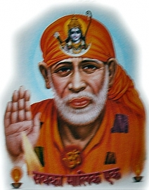 Sticker Sai Baba 9