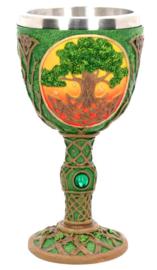 Celtic Dawn - kelk met Keltische levensboom dessin - 19.2 cm hoog