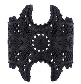 Restyle zwarte metalen armband - Henna - maanfasen