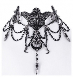 Restyle choker nekketting - Occult Moth