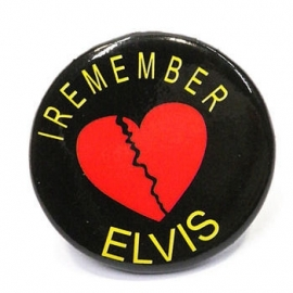 Retro button Elvis