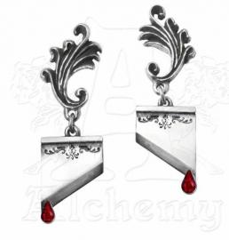 Alchemy Gothic oorbellen - Marie Antoinette guillotines