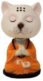 Yogi kat met bewegende bobble hoofd