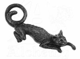 Alchemy Gothic haarclipje - Keltische occulte heksenkat Sith - 5 cm lang