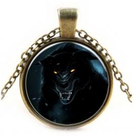 Glazen hanger met ketting Werewolf