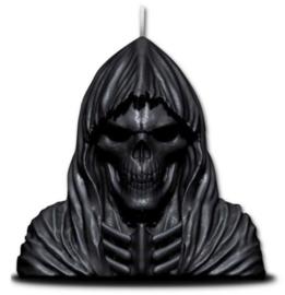 Spiral Direct - Magere Hein zwarte Gothic kaars met verborgen metalen sculptuur - 20 x 13.5 x 9 cm