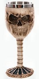 Kelk met schedel