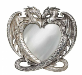 Alchemy England the Vault - Dragon's Heart Spiegel - 15 x 16 cm