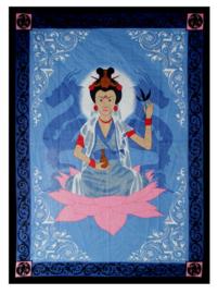 Bedsprei wandkleed Quan Yin 145 x 190 cm