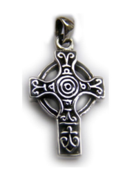 925 zilveren kettinghanger Keltisch Kruis 1 x 2 cm
