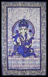 Bedsprei Ganesha blauw paars 120 x 210 cm (1 pers)