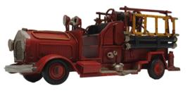 Miniatuur vintage brandweerauto - 16 x 5,5 x 7 cm