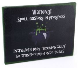 Spell Casting - wall plaque by Miss Peculiar - 25 x 19 cm