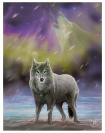Aurora wolf - wandbord van Anne Stokes - 25 x 19 cm