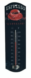 Metal thermometer Espresso - 26 cm tall