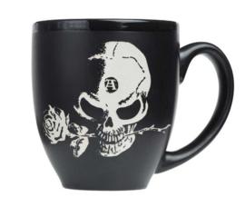 Alchemy of England - zwarte keramieke koffie mok - Alchemist - 10,5 cm hoog